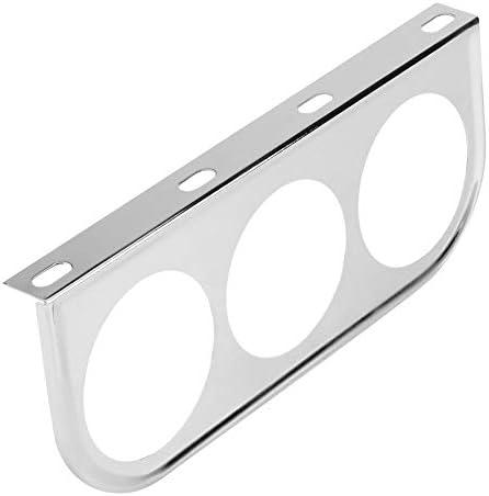 Messgerät Halter 52mm 2 Zoll Universal Messgerät Säulenhalterung Auto Gauge Halterung Bracket Instrumentenhalter Für Pod Halter Silver Auto