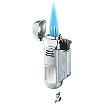 Vector Torpedo - Quad Flame Torch Lighter - Chrome Satin
