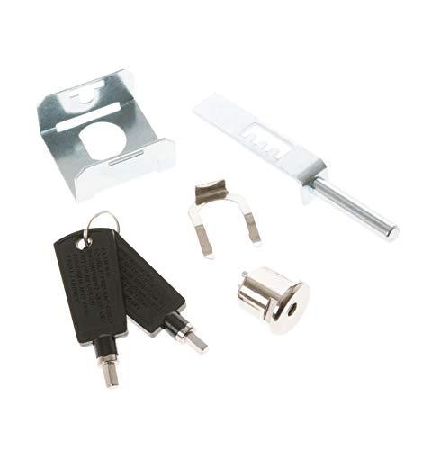(Ge WR05X10037 Refrigerator Door Lock and Key Assembly Genuine Original Equipment Manufacturer (OEM) Part)