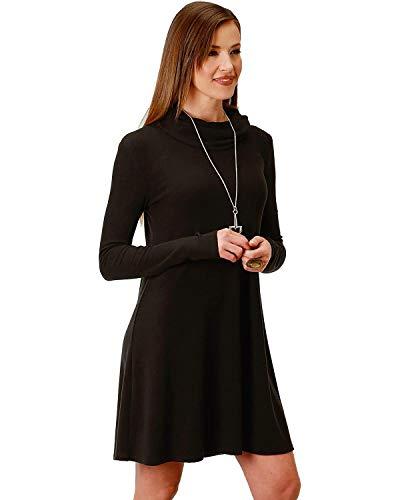 (Roper Women's Cowl Neck Dress Black Medium)