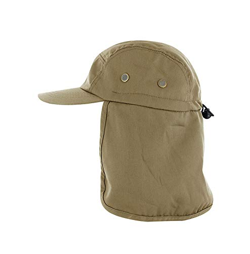 RufnTop Fishing Cap with Ear and Neck Flap Cover UV Protection(Kids, Camel)
