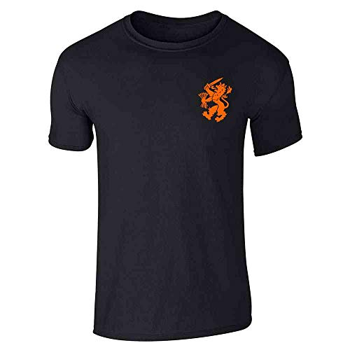 Dutch Soccer Retro National Team Holland Black L Short Sleeve T-Shirt