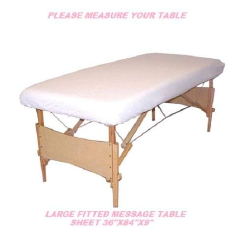 USA_Best_Seller 12 White New Massage Table Fitted Sheet Large Muslin t130 36''x 84''x 9'' Poly Cotton Blend Strength Durability Nice