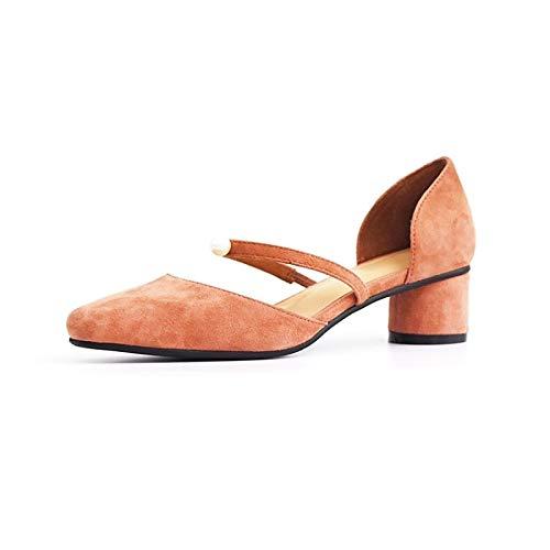 Rose ZHZNVX Chaussures Femme Daim Printemps & Eté Confort Talons Chunky Heel Noir Bleu Rose 38.5 EU