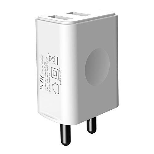 PLAY WC22 Dual USB 10W 2.1A Charger  White