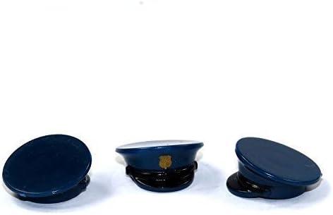 LEGO ® Figuren 3 Custom Brick Forge Polizei Mützen mit Druck Police für z.B