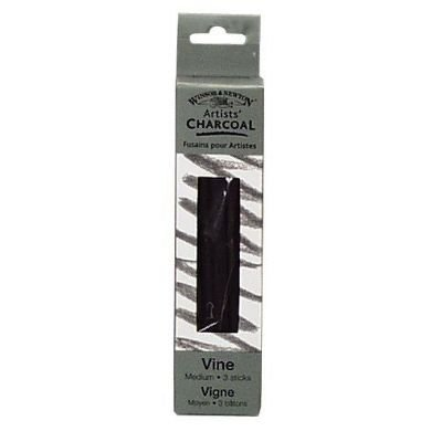 Winsor & Newton Artist Vine Charcoal Sticks 3/Pkg-Medium