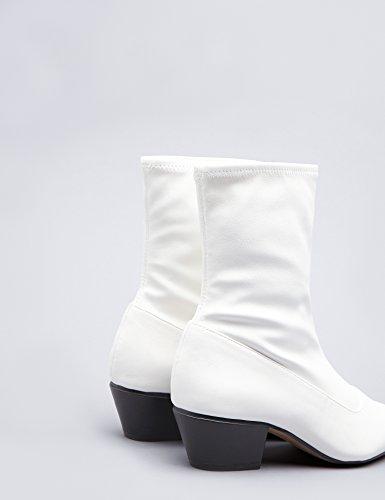 white Laminato Texani Bianco Find Donna Effetto Stivaletti nwUqxYta