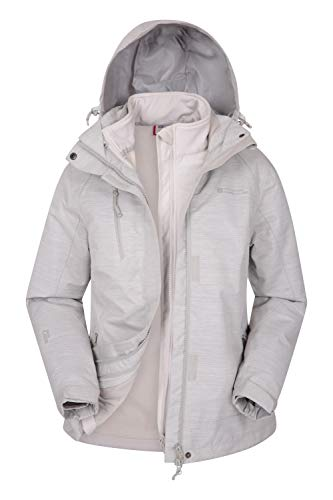 Mountain Warehouse Bracken Melange 3 in 1 Womens Waterproof Jacket Beige 4
