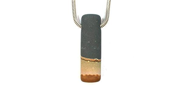1391 DVH Utah Wonderstone Focal Bead Pendant Rhyolite 37x20x12mm