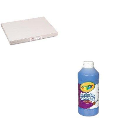 kitcyo543115042pac3411-value-kit-pacon-white-newsprint-pac3411-and-crayola-artista-ii-washable-tempe