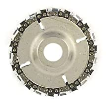 """Superior Steel SS478 22 Tooth 4"""" Fine Cut Grinder Disc and Chain - 7/8"""" Arbor"""