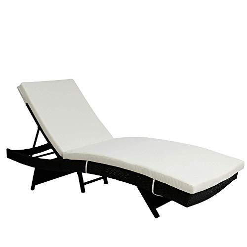 Peach Tree Wicker Pool Chaise Lounge Chair Outdoor Patio