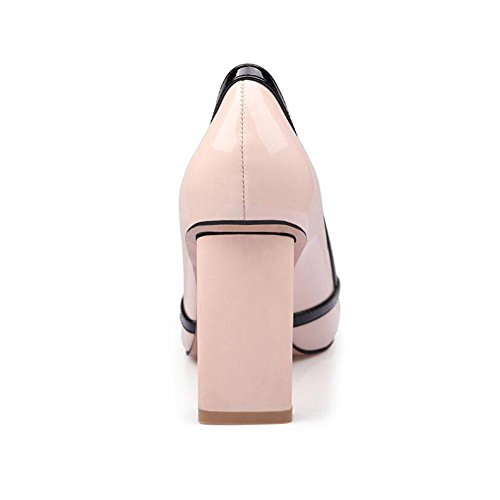 Zapatos Zapatos Dress 8cm Rough White Shoes High de Beige New beige Single Black Oficina trabajo Shallow Spring Ol Boca Profession Costura Heels 2018 mujeres YWNC para Multicolor 5aI7Yqx5