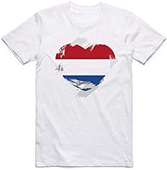 White Netherlands Flag T-Shirt For Men