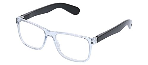 Peepers Unisex-Adult Hutch - Clear/Black 2536300 Square Read