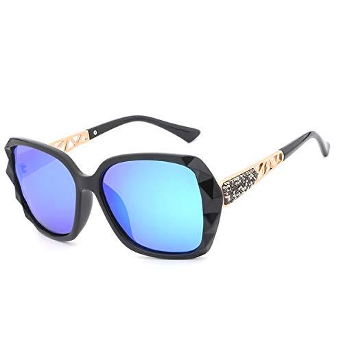 de del Las Femeninas de diseño Gafas de A Las tamaño Gafas Las Gafas Calidad Alta de de Marca Sol de Las Gran Lujo prismáticas KOMNY la de Sol Mujeres polarizaron A de fw1qx6UYW