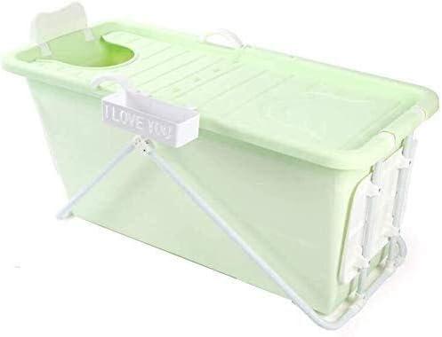 肥厚折りたたみプラスチックバスタブアダルトバスタブベビーバスプール、ピンク (Color : Green)