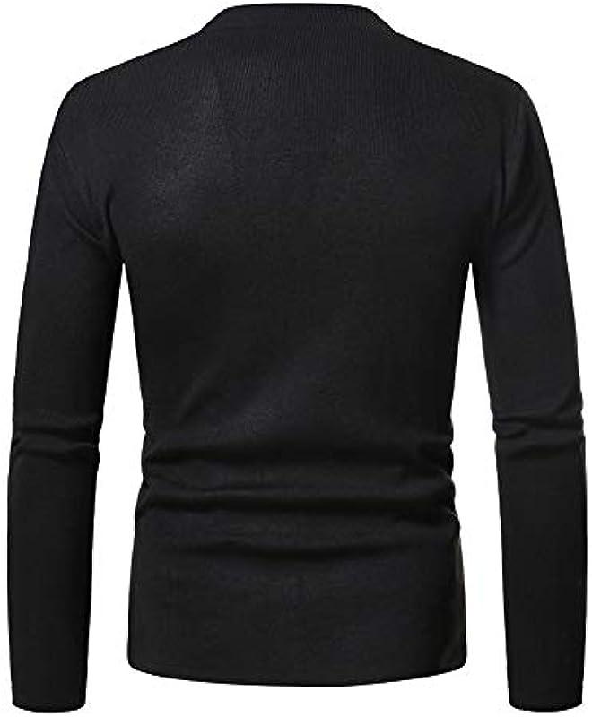 WLZQ 2020 męska kurtka jesienna i zima Solid Color Cardigan Sweater młodzieżowa Slim Fashion Sweater kurtka: Odzież