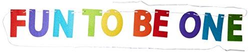 1st Birthday Rainbow Glitter Ribbon Letter Banner -