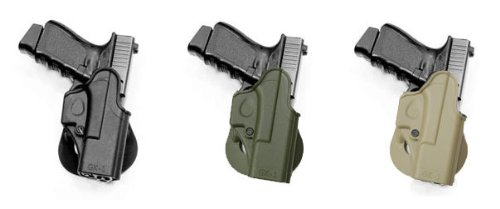 IMI RSR Hand Gun One Piece Holster Case Glock (glokl, glcok, golck, gloock, glouk) 17/19/22/23/26/27/31/32 Black]()