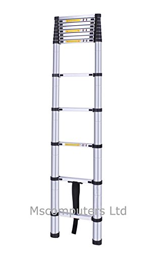 Telescopic Extending Ladder Aluminium Saves Space Multi-purpose CE Approved 3.8m