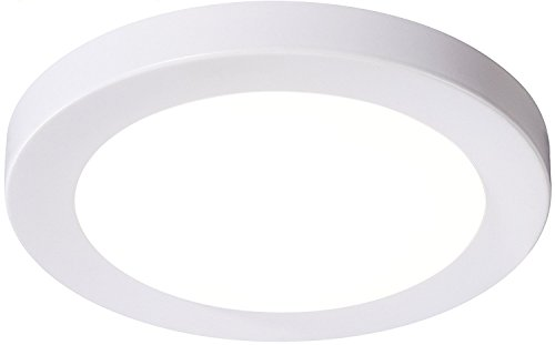 (Cloudy Bay LMFFM712840WH 7.5 inch LED Ceiling Light,12W 840lm,4000K Cool White, LED Flush Mount,White Finish, Wet Location)