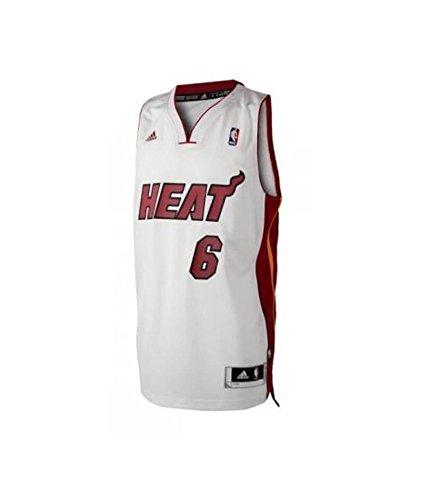 adidas – Camiseta NBA Swingman baloncesto Miami Heat Lebron James hombre 14 años – 14 años