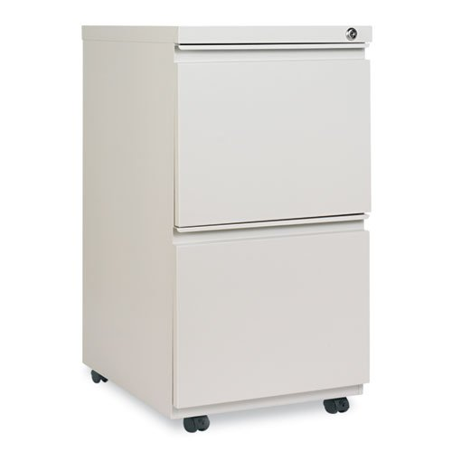 Alera PB542819LG Two-drawer Mobile Pedestal File W/ Full-length Pull 14-7/8w X 19-1/8d Lt Gray by Alera
