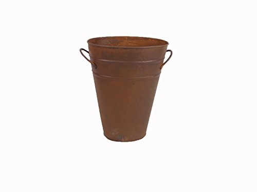 Craft Outlet Oval Bucket, 9.5-Inch, Rust (Rust Bucket)