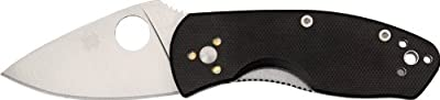 Spyderco Ambitious Black G-10 PlainEdge Knife by Spyderco :: Combat Knife :: Tactical Knife :: Hunting Knife :: Fixed Blade Knife :: Folding Blade Knife