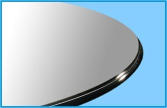 30'' Round Tempered Glass Table Top 1/2'' Thick Ogee Edge