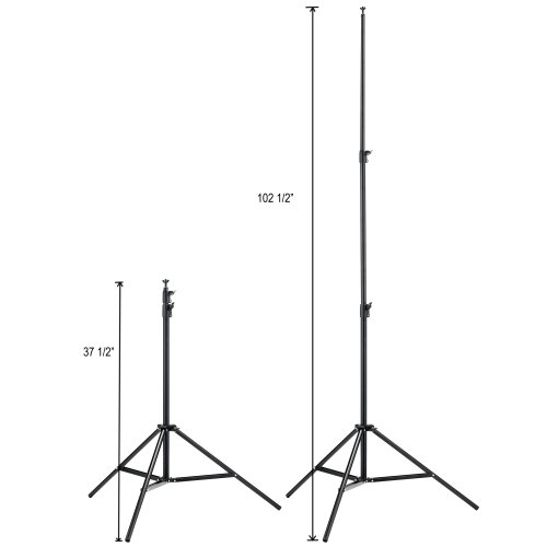 Square Perfect 1041 SS150 Professional Quality Photo Backdrop Stand for Muslin and Scenic Backgrounds