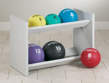 CLINTON EXERCISE BALLS AND ACCESSORIES Double level ball rack w/ 6 med balls Item# 8299 by Clinton Kangoo