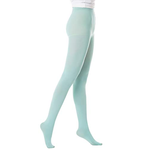 Women's Tights 50 Denier Tights Opaque Color Footed Pantyhose With Control Top 1 Pair Great For Workout Cosplay & Daily Use -
