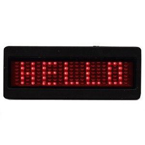 LED Digital Scrolling Message Name Tag ID Badge