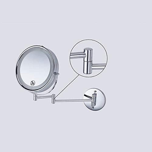 LEDライト、ウォールマウントバニティミラー5X調光浴室鏡が2フェースメイクミラー
