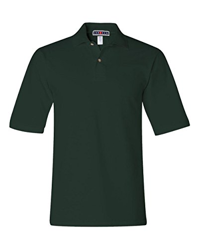 Jerzees mens 6.5 oz. Ringspun Cotton Pique Polo(440)-FOREST GREEN-2XL