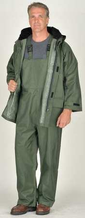3-Piece Rainsuit with Hood, Green, L