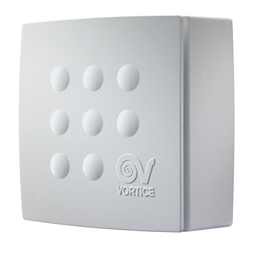 Vortice 11945 Quadro Micro 100 T HCS Centrifugal 2 Speed Bathroom Extractor Fan with Humidity Control
