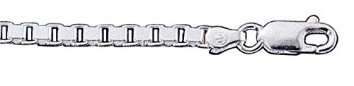 Sterling Silver 16'' Inch Box Chain Choker Necklace 060 by Auntie's Treasures (Image #1)