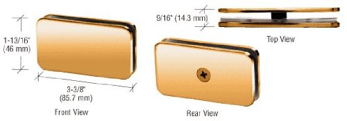 - CRL Gold Plated Junior Traditional Style Fixed 180 Degree Glass Clamp for 1/4