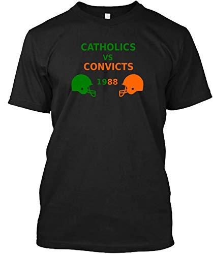 Catholics Vs- Convicts 1988 Vintage Football Shirt Cotton T-Shirt For Men For - Vintage T-shirt Football