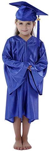 Preschool and Kindergarten Graduation Shiny Gown Cap Tassel with 2020 Year Charm
