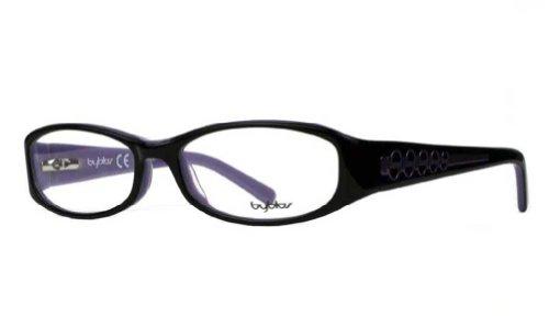 Byblos Glasses - Byblos Women's BY029 Black (02) Frame Clear Lens Full Rim Eyeglasses 53mm