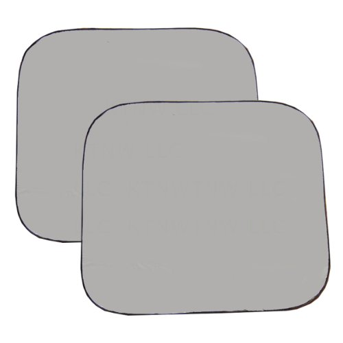 Silver Windshield (Two Piece Spring Front RV Windshield Sunshade - Silver)