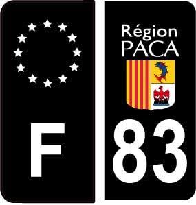 SAFIRMES - 4 Pegatinas Autoadhesivas para Placa de matrícula de 83 Pulgadas, Color Negro: Amazon.es: Coche y moto