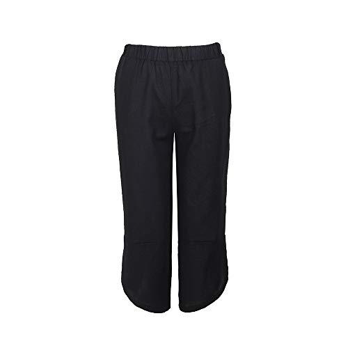 Larghi Pantaloni Zhrui Nero Casual Donna Cotone OZfnxwqzf
