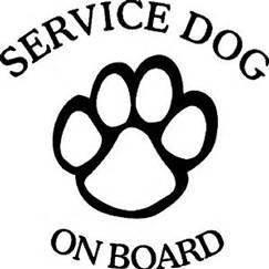 Chase Grace Studio Service Dog On Board Therapy Dog Canine K9 Vinyl Decal Sticker|BLACK|Cars Trucks Vans SUV Laptops Wall Art|5.5