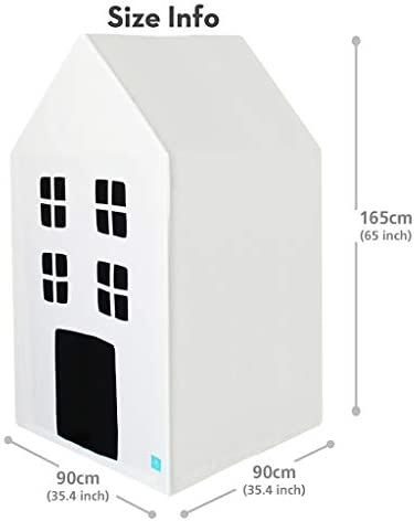 Sturdy Safe Aluminum Structure Petite Maison Kids Play House Toy Tent 35 x 35 x 65 Easy Assembly 100/% Natural Cotton Hand Made Premium Quality Playhouse for Indoor /& Outdoor Tower White